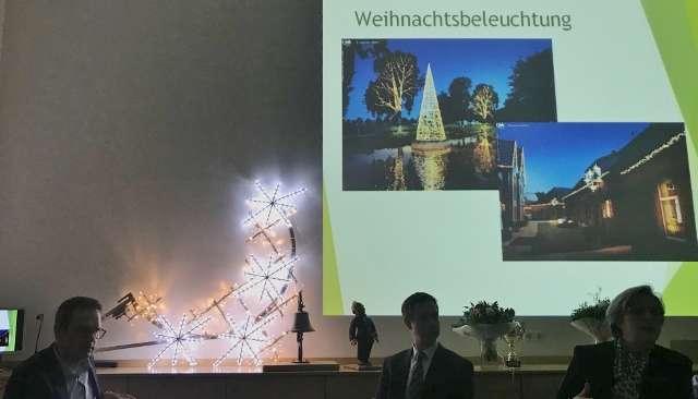 Weihnachtsbeleuchtung Schloss Raesfeld
