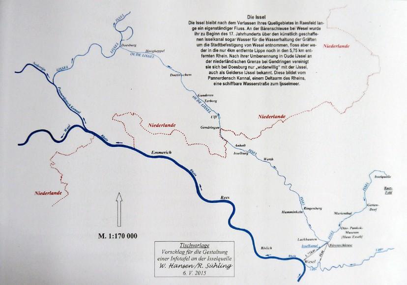 Verlauf der Quelle Issel in Raesfeld