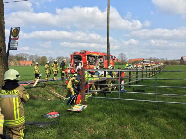 Schwerer Unfall Feuerwehr Raesfeld