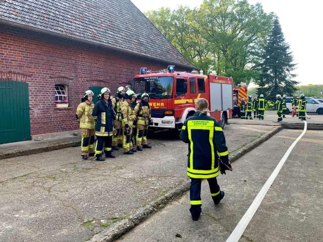 Feuerwehrübung Löschzüge Erle, Rhade und Altschermbeck