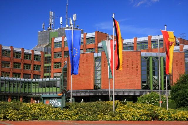 Am 23. und am 26. Mai 2019 wird das Kreishaus in Borken beflaggt