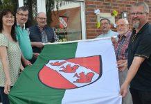Erle Schützenfest 2019 neue Fahne betreutes Wohnen