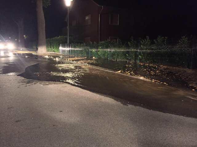 Wasserrohrbruch Silvesterstraße Erle