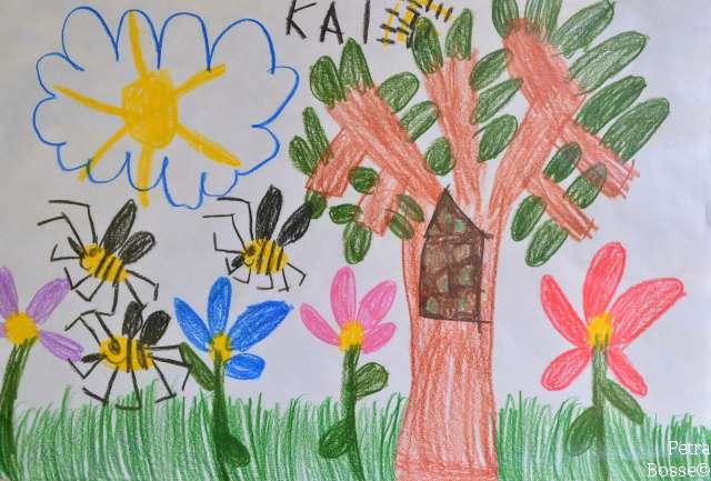 Tolle Bilder rund um die Biene eingereicht von den Kindergartenkinder aus Rae und Erle
