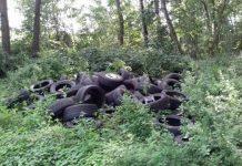 Borken Illegale Reifenablagerung Müllkippe