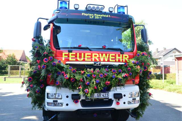Neues Löschfahrzeug Florin 1 in Raesfeld_Foto. Petra Bosse