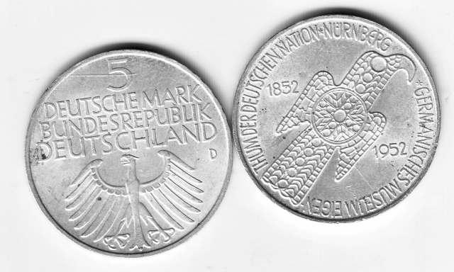 Germanische Münze von 1952