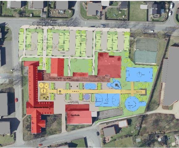 Neugestaltung Schulhof Raesfeld