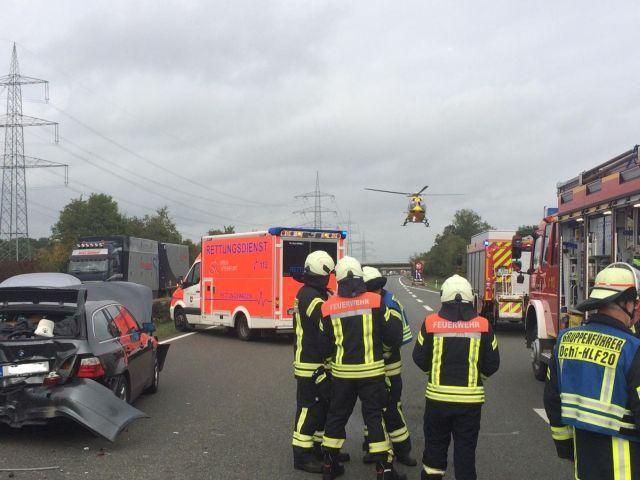 Schwerer Unfall A 31 bei Ochtrup