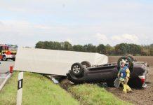 Unfall Borkener Straße B 70