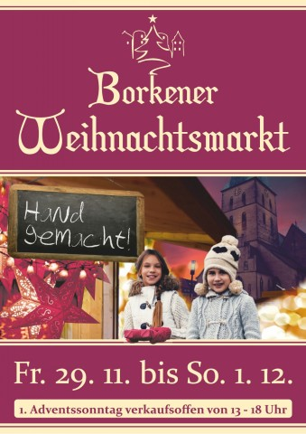 Besuchen Sie den traditionellen Borkener Weihnachtsmarkt. Foto: Stadt Borken