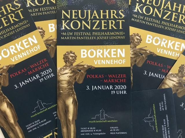Stadt Borken verlost 4 x 2 Freikarten für das Neujahrskonzert in Borken