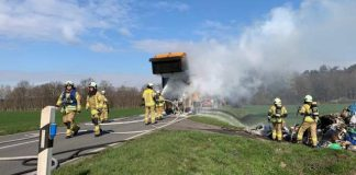 LKW Ladung fing Feuer in Raesfeld