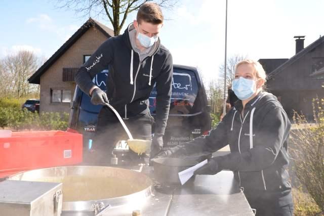 suppe gegen Spende in Raesfeld
