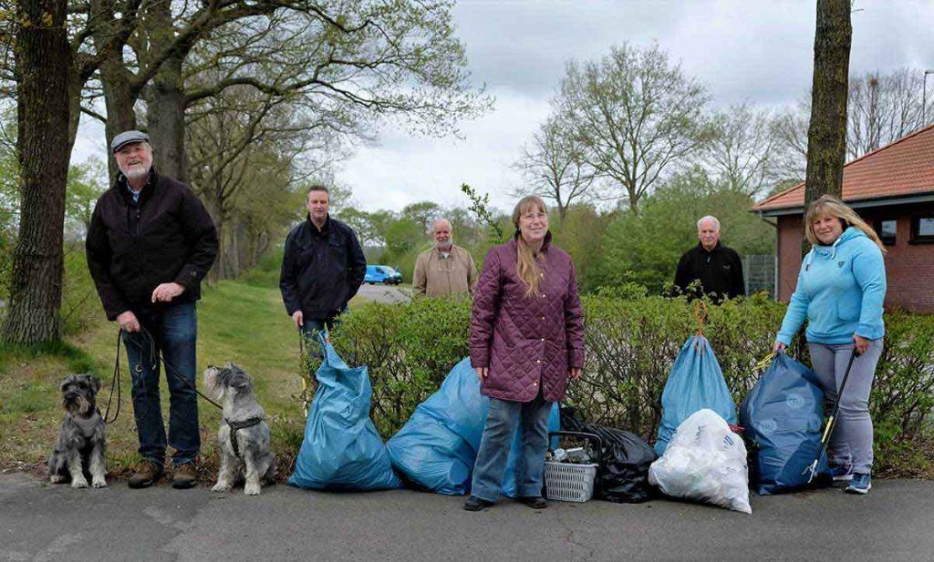Müllsammelaktion UWG Raesfeld 2020