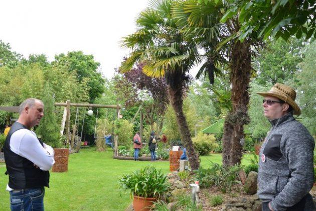 Sehr zur Freude von den Gartenbesitzern Thomas und Regina Seggewiß konnten sie am Sonntag im Rahmen der Gartentage ihr Kakteenparadies für Besucher öffnen.
