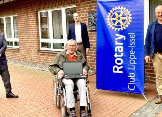 Rotarie Lippe Issel spendet Laptop corona