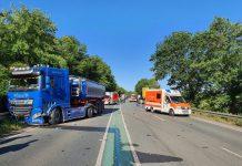 Schwerer Unfall auf der B67 bei Borken