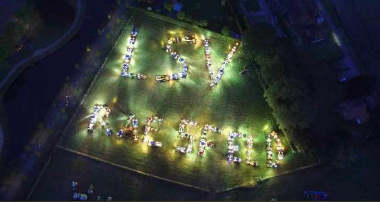 Flashmob Raesfeld Land schafft Verbindung