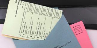 Kommunalwahl-Stimmzettel