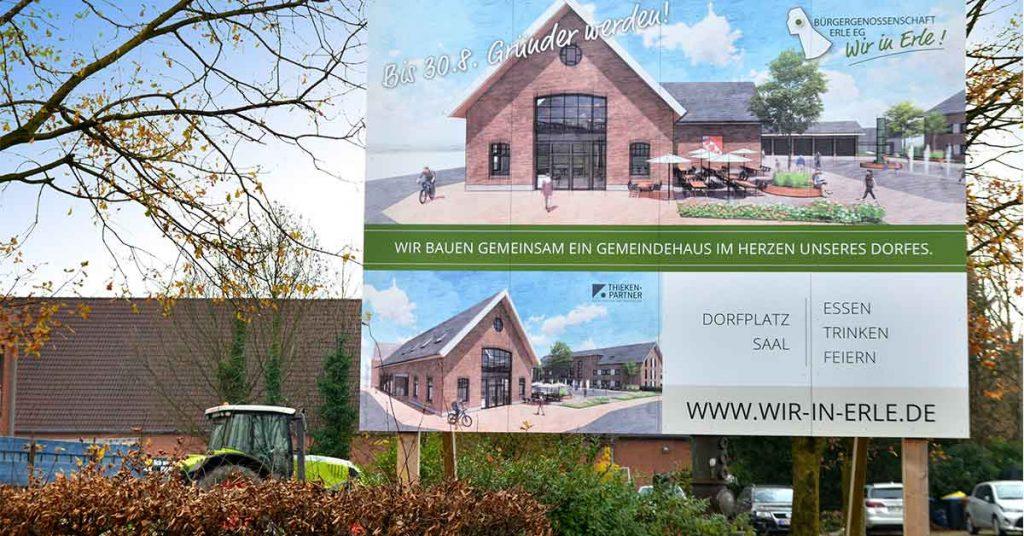 Bauschild-Dorfgemeinschaftshaus-Erle
