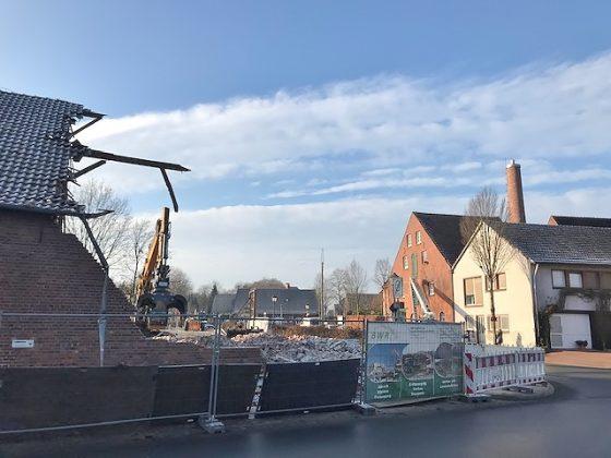 Abriss Scheune Böckenhoff in Erle