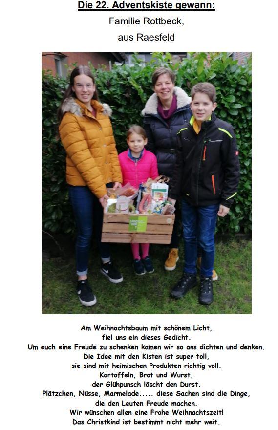 Adventskiste Rottbeck Raesfeld