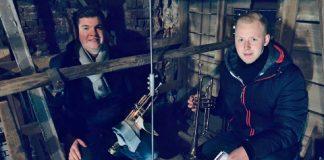 Trompetenmusik Erler Jäger Kirchturm Erle