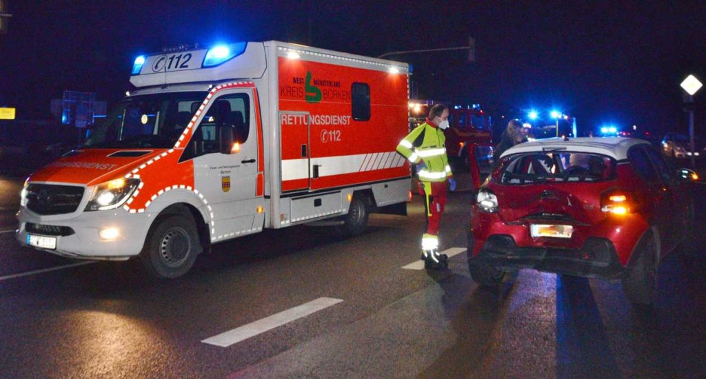 Verkehrsunfall-Erle-Rhader-Straße