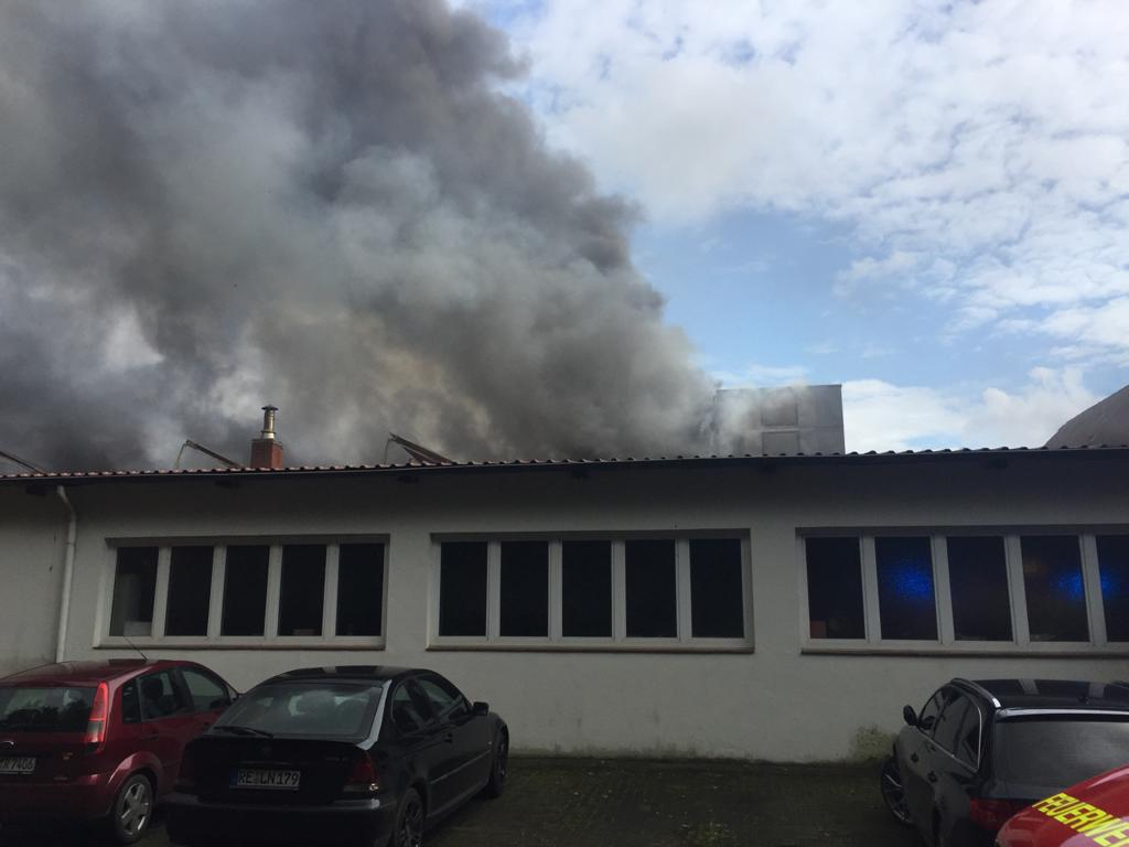 Großbrand Schreinerei Raesfeld