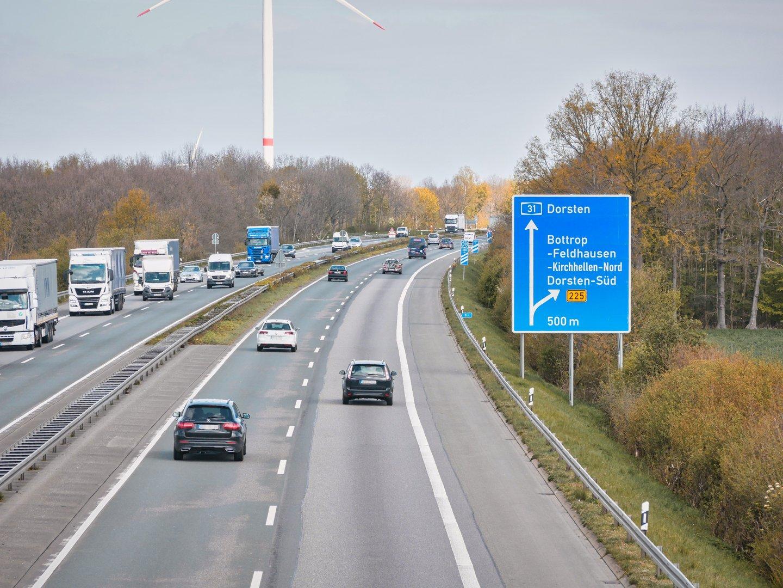 A31 Sprrrung Richtung oberhausen
