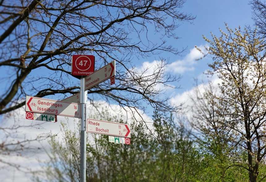 Radfahren-Knotenpunkt-Raesfeld