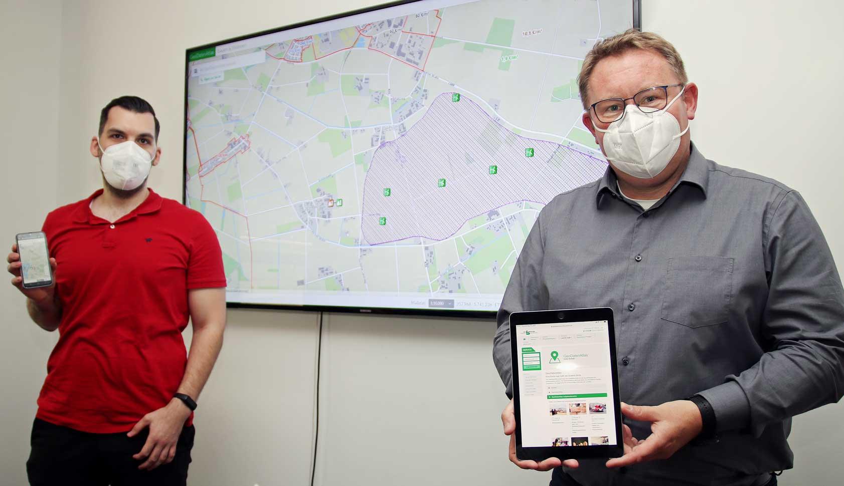 Stefan-Menze und-Thomas-Westhoff-vom-Geodatenmanagement