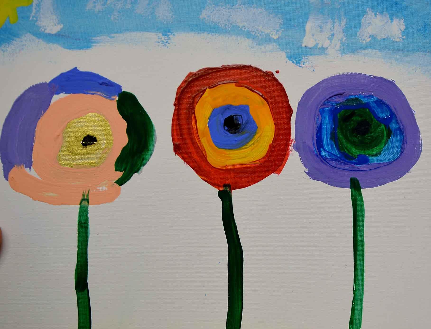Blumen-nach-Hundertwasser