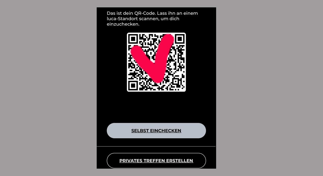 Kontaktverfolgung-einchecken-Luca-App